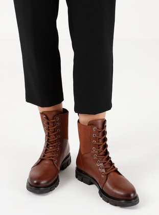 Tan - Casual - Boots