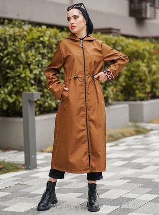 Tan - Fully Lined - Cotton - Trench Coat