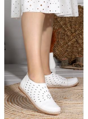 Flat - White - Flat Shoes