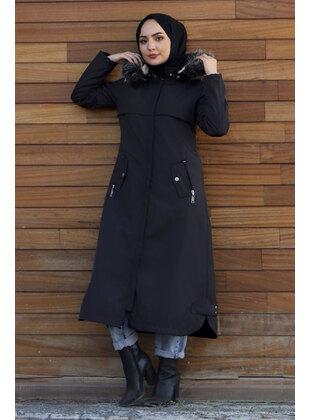 Black - Fully Lined - Crew neck - Puffer Jackets - Tesettür Dünyası