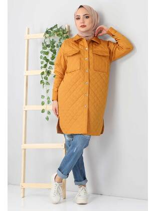 Tan - Unlined - Point Collar - Jacket