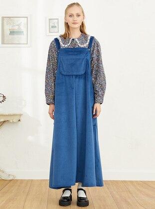 Unlined - Indigo - Skirt Overalls