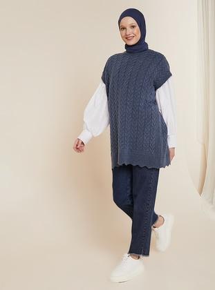 Unlined - Indigo - Knit Sweater