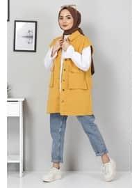Mustard - Fully Lined - Crew neck - Vest