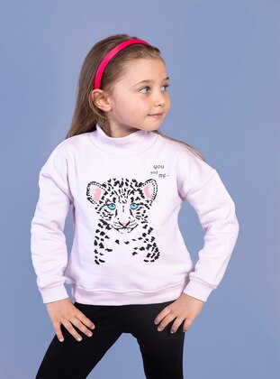 Powder Pink - Girls` Sweatshirt