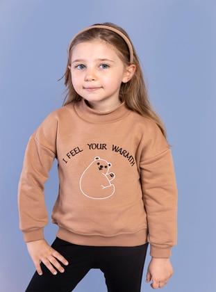 Brown - Girls` Sweatshirt